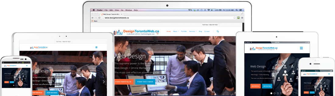 Mobile Responsive Web Design by Design Toronto Web