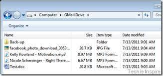 file saving in gmail hard drive
